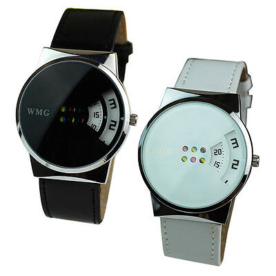 Fashion Creative Colorful Watch Carousel Scale Pu Leather Belt Ladies Watches