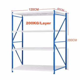 1.2Mx2M Steel Warehouse Rack Storage Garage Shelving Shelf Shelve