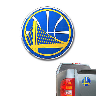 New Nba Golden State Warriors Color Aluminum 3D Car Truck Emblem Sticker Decal