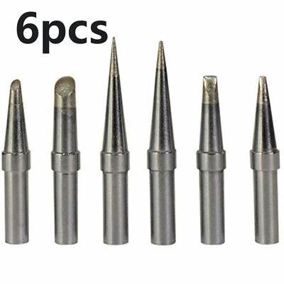 6et Solder Soldering Iron Oxygen-free Copper Tips Kit For Weller Wesd51 Wes51