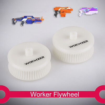 Worker Mod Flywheel Lightweight wheel Plastic white for Nerf STRYFE RAPID STRIKE