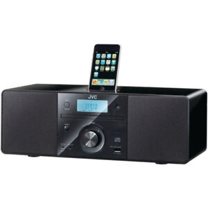 JVC RDN1 Speakers with iPhone dock, CD player, Aux, and USB.
