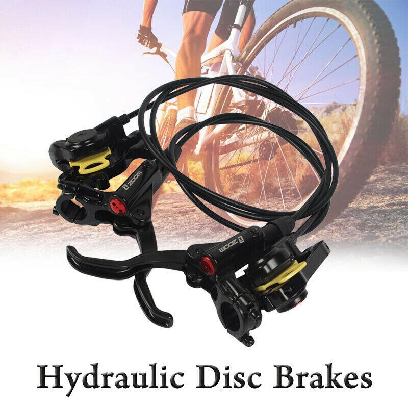 ZOOM MTB XC FR Bike Brake lever Calipers Hydraulic Disc Brakes Front /& Rear set