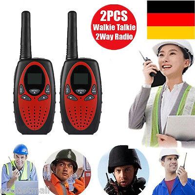 2* 8 Kanäle Walkie-Talkie Set 5KM PMR Hand Funkgerät Funk Telefon Reichweite DE