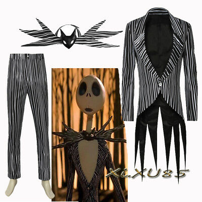 Cool The Nightmare Before Christmas Skull Jack Cosplay Costume Customized Suit