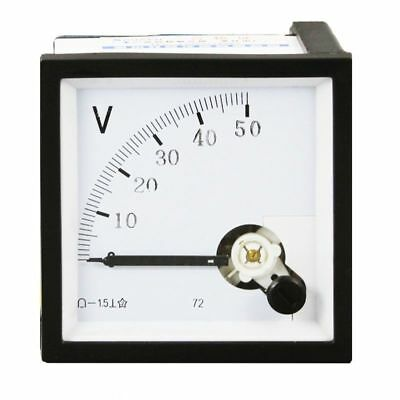 Us Stock Ac 050v Square Analog Volt Pointer Needle Panel Meter Voltmeter Xt-72
