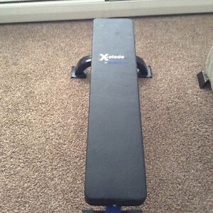 Xplode Weight Bench, Flat fixed barely used