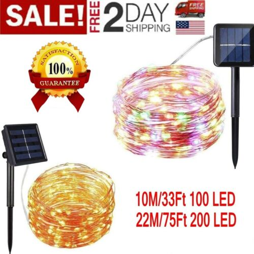 200 LED Solar Power String Fairy Lights Outdoor Party Lamp H
