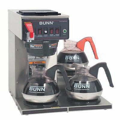 Bunn Cwtf15-3 Medium Volume Decanter Coffee Maker - Automatic 3.9 Galhr12v