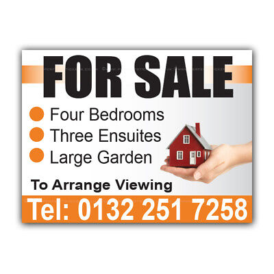 For Sale Correx Sign Printed Boards House Estate Agent Signs (CORPP00002)