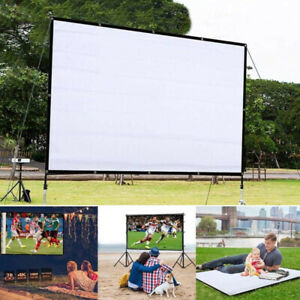 Foldable Anti-Crease Projector Movie Screen for Home Theater