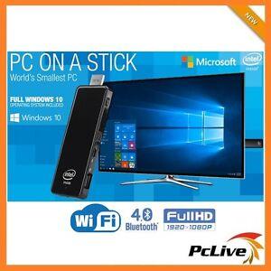 Intel Quad Core Mini PC On a Stick 32GB Windows 10 HDMI WIFI Bluetooth Compute