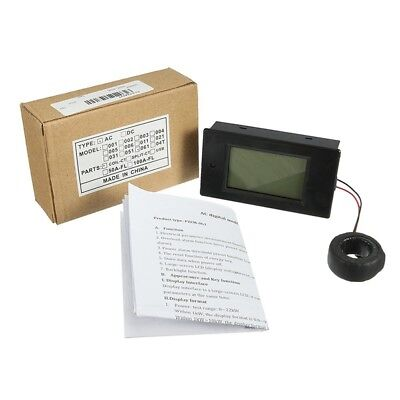 Digital Lcd Panel Ac Voltage Monitor Meter 100a80260v Voltmeter Ammeter
