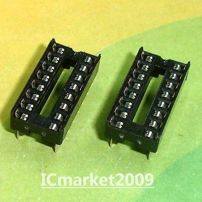 100 Pcs 16 Pin 16pin Dip Ic Sockets Adaptor Solder Type