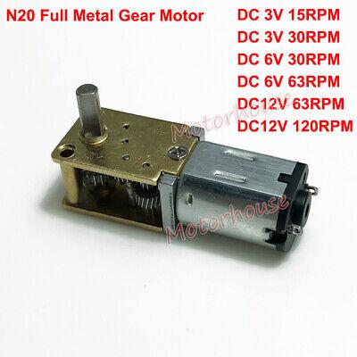 Dc3v-12v Mini Micro N20 Gear Motor Full Metal Gearbox Large Torque Diy Robot Car