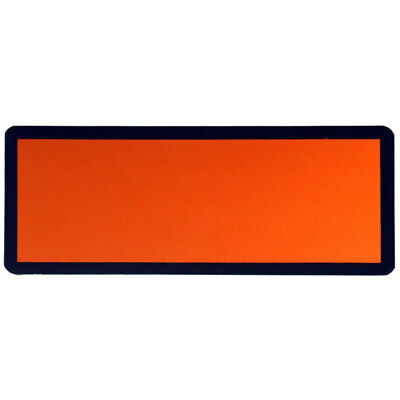 Orange Hazchem Panel 120mm x 300mm Magnetic