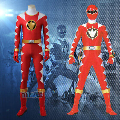 Mighty Morphin Power Rangers ZYURANGER Abare Red Rot  Cosplay Kostüm - Morphin Power Ranger Kostüm