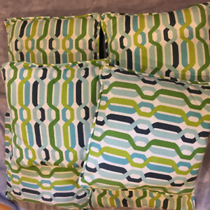 Outdoor pillows and chair cushion