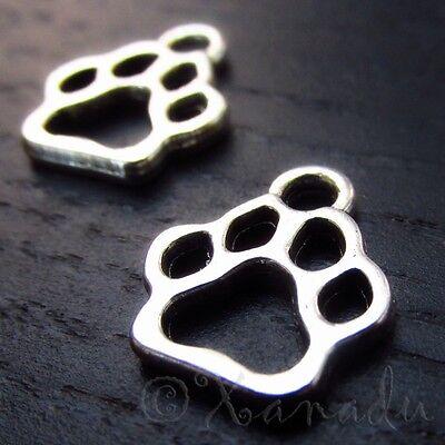 Animal Paw Print 13mm Wholesale Silver Plated Charms C3814 - 10, 20 Or 50PCs](Animal Print Plates)