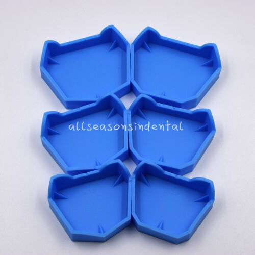 1 Set /6Pcs Dental Lab Teeth Model Former Base Mold With Notches Impression Tray