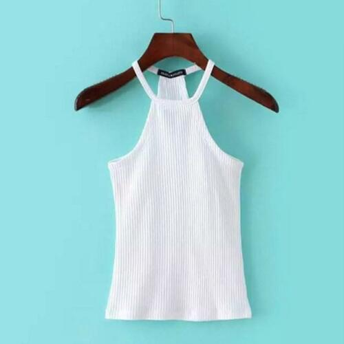 Women Halter Tank Tops Vest Crop Top Bustier Bra Bralette Shirt Blouse Cami LD