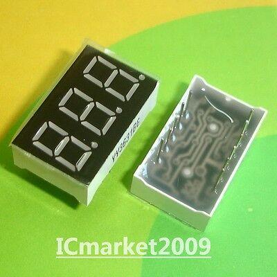 10 Pcs 3 Digit 0.36 Inch Green Numeric Led Display 7 Seg Segment Common Cathode