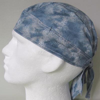 Bandana Light Blue Acid Wash, zandanna du do doo rag head wrap sun hat cap new  - Light Blue Bandana