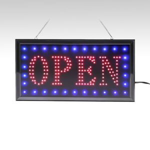 LED OPEN Sign with Running Border on sale on Ebay