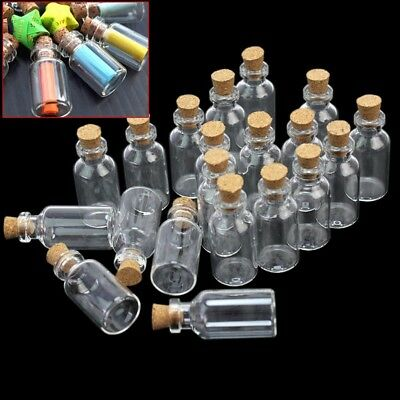 50pcs Mini Small Glass Bottles with Cork Stopper Tiny Vials Wish Jars Containers - Bottles With Corks