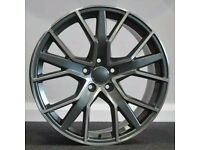 """*Load Rated* x4 18"""" RS6-D Style Alloys Vw T6.1 T6 T5 Transporter GM Polished"""