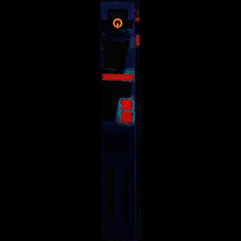KFZ Sonnenrollo groß 53 x 52cm Doppelpack Rechts Links Seitenfenster
