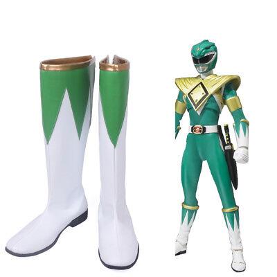 New Arrival Zyuranger Green Dragon Ranger Cosplay Costume Boots Halloween Shoes  - Green Ranger Costume Halloween