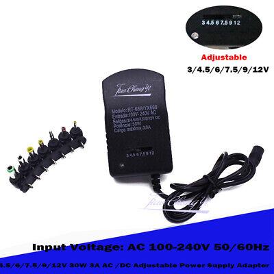 30w Adjustable Acdc Charger Adapter Switch Power Supply 3v4.5v6v7.5v9v12v