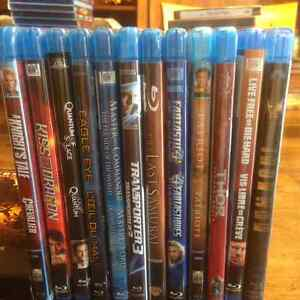 DVD and Blue Ray collection