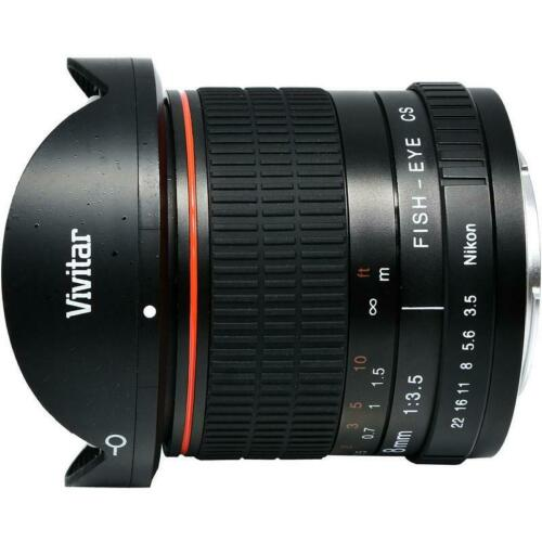 Vivitar 8mm f 3.5 HD Aspherical Fisheye Fixed Lens for Canon