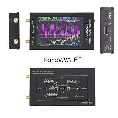 10khz-1.5Ghz NanoVNA-F V3.1 Vhf Uhf Antenne Analyse 10.9cm Metall Case W //