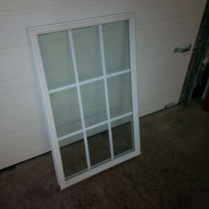 Exterior door replacement insert window