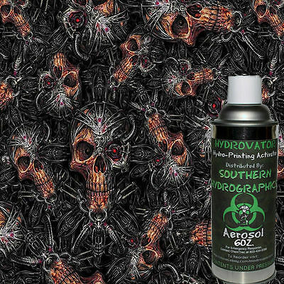 Hydrographic Film Water Transfer Hydro Dip 6oz. Activator Mechanical Skull Kit