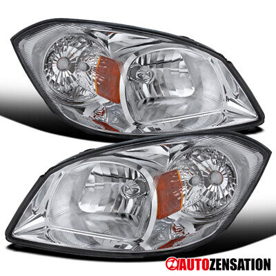 For 2005-2010 Chevy Cobalt 2007-2009 Pontiac G5 Pair Clear Lens Headlights Lamps