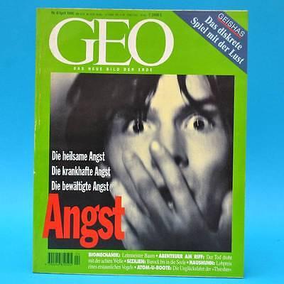 GEO Magazin 4/1996 Atom-U-Boot Sizilien Angst Haushuhn Geishas Tresher