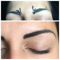 3D microblading eyebrow feathering & mink eyelash Extentions