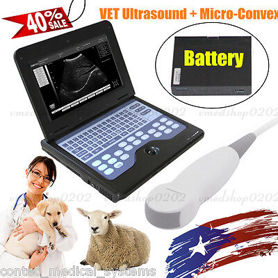 Portable Vet Veterinary Ultrasound Scanner Digital Laptop Machinedogcatcontec