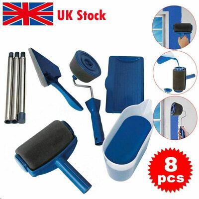 8PCS Paint Runner Pro Brush Set Multifunctional Paint Roller Brushes kit Wall Pa