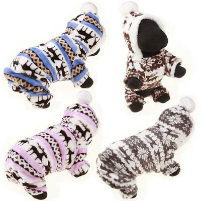 Winter Pet Dog Clothes For Small Dogs Deer Warm Fleece Coat Jackets Costume - Deer Dog Costume
