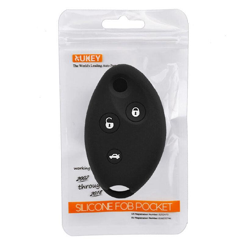Silicone Cover Holder fit for PEUGEOT 508 5008 Flip Remote Key Case 3 BTN 11C BK