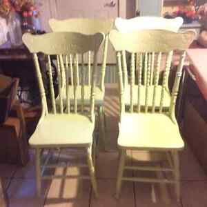 Antique solid oak rocking chair plus other chairs Kitchener / Waterloo Kitchener Area image 10