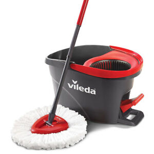 Vileda EasyWring Microfibre Spin Mop & Bucket Floor Cleaning Sys