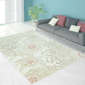 Lily Pink Area Rug,Living Room,Bedroom,Dining Room