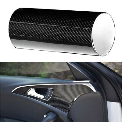 ::Auto Accessories 5D Glossy Carbon Fiber Vinyl Film Car Interior Wrap Stickers