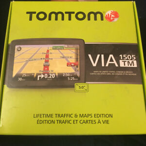 TomTom Via 1505TM GPS. In box.